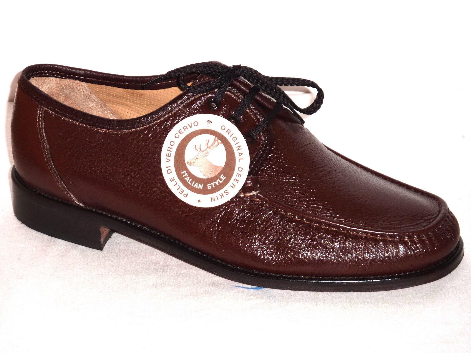 U4201h melluso zapatos Man fasten Skin Deer marrón Fashion Comfortable No 43