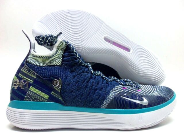Por separado cebolla incluir  Nike Zoom KD 11 BHM Basketball Shoes Blue Void Black Mens Size 8 Bq6245-400  for sale online | eBay
