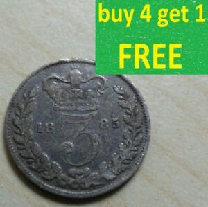 Queen Victoria Threepence 3D Silver 1837-1901 Choose your date