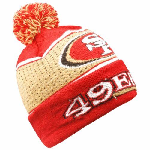 LED Wintermütze Bommel Beanie San Francisco 49ers