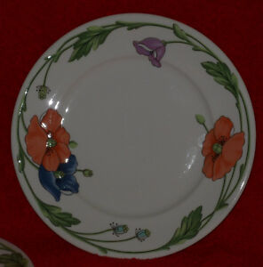 villeroy boch 1748 8 1 4 plate amapola dish vitro medium salad bread side wow ebay. Black Bedroom Furniture Sets. Home Design Ideas