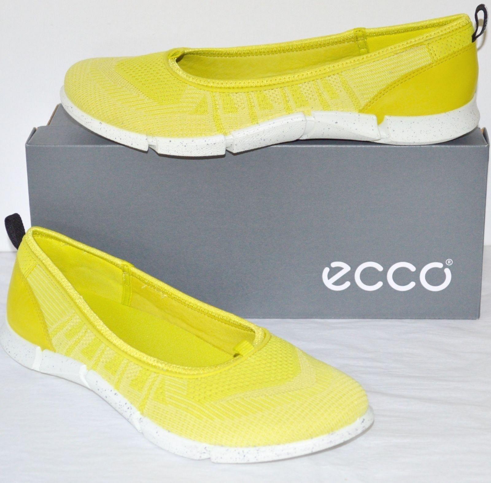 New  135 ECCO Intrinsic Karma Ballerina Sulphur Lemon Neon 11 Yellow Slip On sz 11 Neon fb89f4