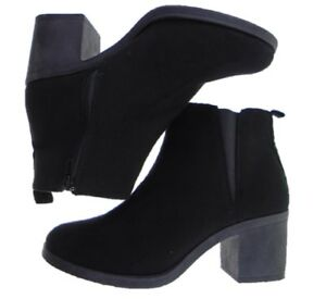 Ladies BE YOU Black Faux Suede Block Heel Chelsea Ankle Boot Sizes UK 3 to UK 8