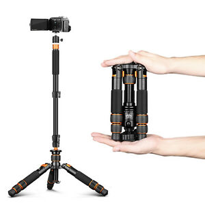 SL166A Portable Mini Tripod +Self Stick Monopod Desk Support DSLR phone kit