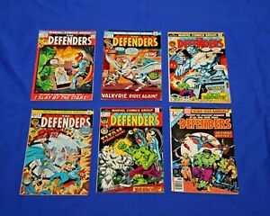 THE-DEFENDERS-Lot-of-6-comics-1-4-5-6-12-King-Size-Annual-1-Marvel-Key