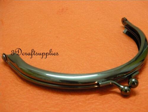 Metal Purse Cadre Colle Sur Fermoir Clip Black 4 1//4 Pouces x 2 1//2 Pouces B73