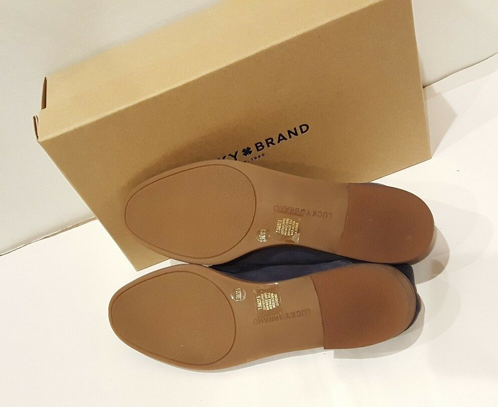 Lucky Brand Chennie Morroccan Morroccan Morroccan Blue Oiled Suede Loafer Donna Sz. 7.5M New W/Box 7f0196