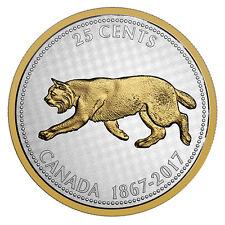 * ALEX COLVILLE BOBCAT 1967 CENTENNIAL BIG COIN 2017 25 Cents 5 oz Silver Coin
