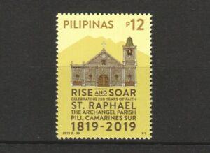PHILIPPINES 2019 200 YEARS OF FAITH ST RAPHAEL PARISH COMP. SET OF 1 STAMP MINT