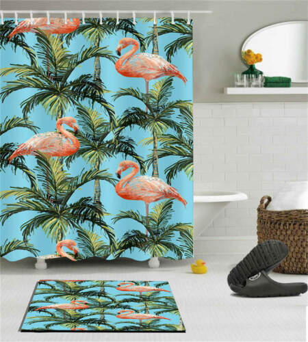 Animal Nature Waterproof Bathroom Polyester Shower Curtain Liner Water Resistant