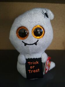 """Ty Beanie Boos HAUNTS the Halloween Ghost 6"""" (Claire's Excl) MINT with MINT TAGS"""