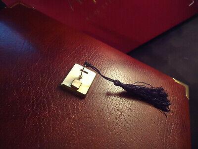 Asprey Brown Leather Notebook - A4 - Calculator - Ballpont Pen - Boxed Elegante Nello Stile