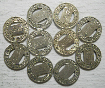 Michigan MI500A Kingsford Transit transit tokens Lot of 10 Iron Mountain