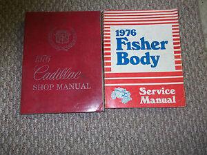 1976-Cadillac-Fleetwood-Servicio-Manual-De-Taller-fabrica-de-conjunto-76-Concesionario-X