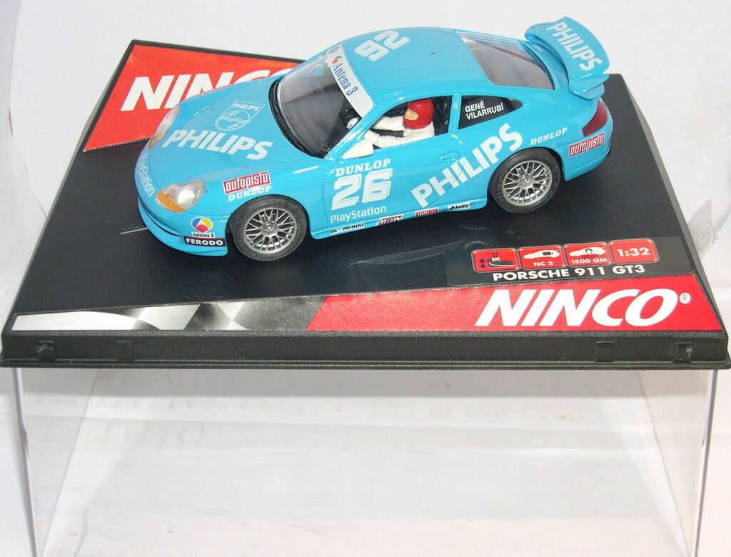 NINCO 50242 SLOT CAR PORSCHE GT3  26 PHILIPHS GEN-VILARRUBI MB