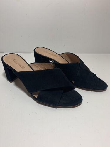 Madewell Greer Mule Sandal Black Size 8.5 EUC