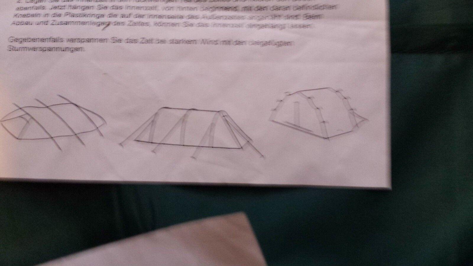 Tom Personen Cat Tunnelzelt Modell Loggia für 3 Personen Tom NEU ca7f8c