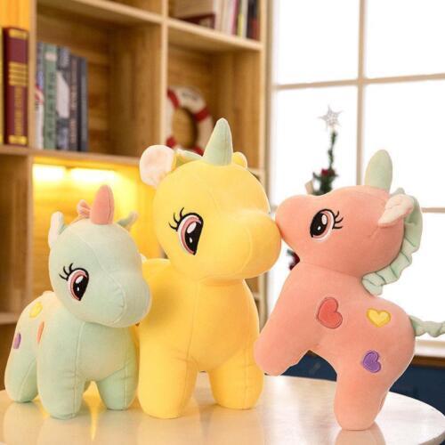 Cute Unicorn Plush Fluffy Stuffed Animal Lovely Cartoon Doll Toys Baby Kids Gift