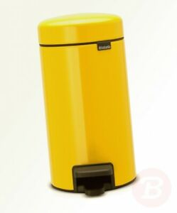 Brabantia Pedal Bin newIcon with Plastic Inner Bucket, 3 Litre - Daisy Yellow