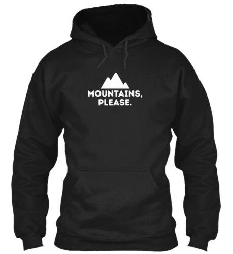 Mountains Please Gildan Hoodie Sweatshirt Mountains Please Outdoors Camping