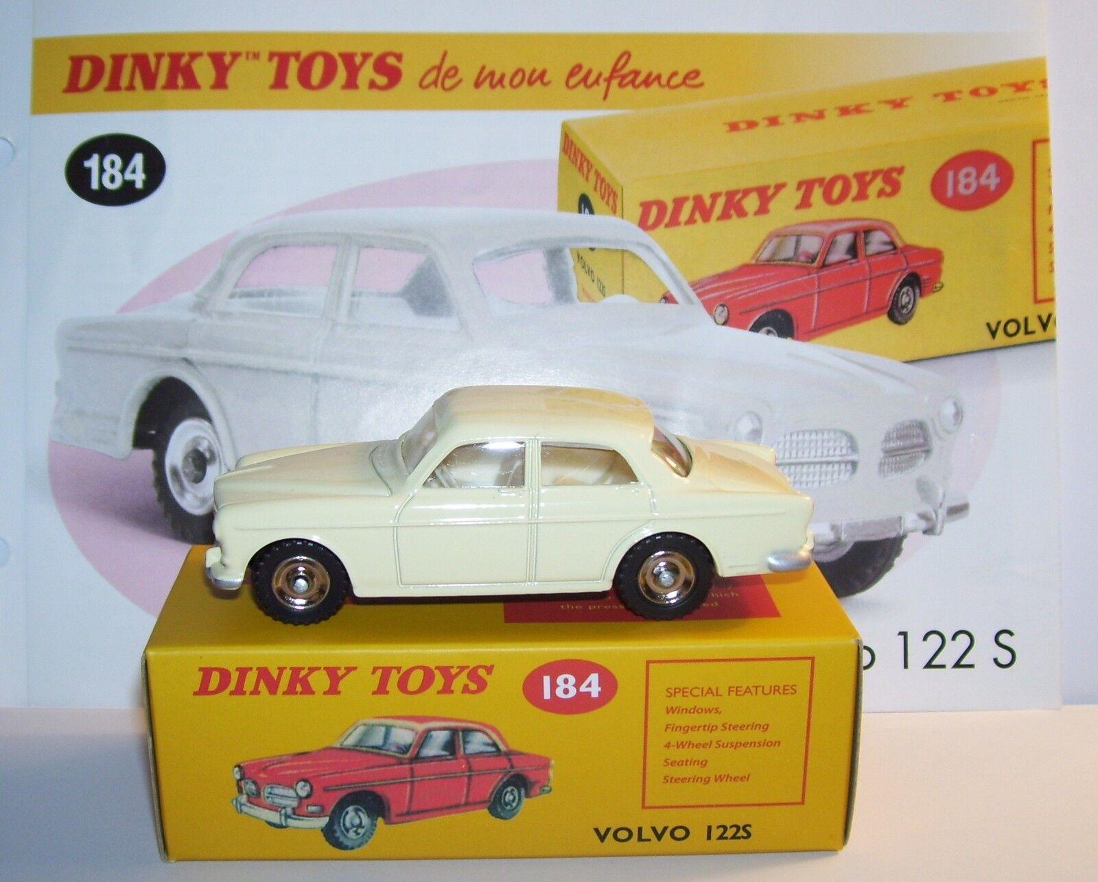 DINKY TOYS ATLAS VOLVO 122 S blancoO CREMA 1 43 REF 184 EN BOX nuevo b