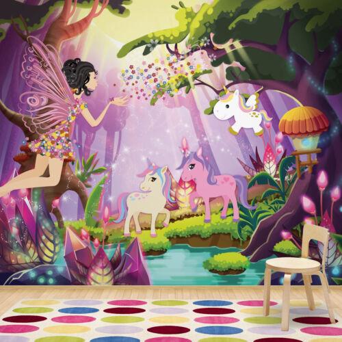 Girls Bedroom Kids XXL Photo Wallpaper 11707V4 Wall Mural Unicorns Fairies