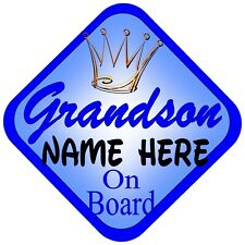 NEW   WORLDS BEST GRANDPA JEWEL   Non Personalised Baby on Board Car Window Sign