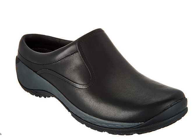 Merrell Leather Slip-On Clogs - Encore Q2 Black Size 5.5W Wide Women's
