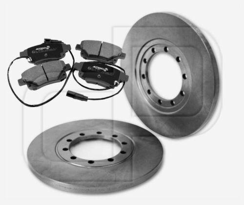 2 Bremsscheiben 4 Bremsbeläge FORD Transit ab 2006 hinten 280 mm unbelüftet