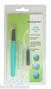 MANUSCRIPT PENS Dodec Fountain Pen - various colours to choose!