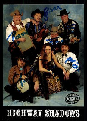 Musik Begeistert Highway Shadows Autogrammkarte Original Signiert ## Bc 54075 Heller Glanz