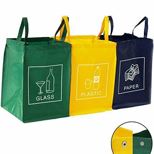 DWD-COMPANY Lot de 3 bacs de déchets Poubelle Trieur à déchets Poubelle de re...