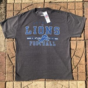 Detroit Lions Large Tee Shirt distressed style logo new with tags NWT