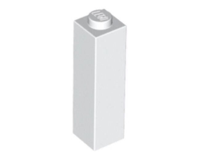 Lot x4 Lego - Brique Colonne (blanc) Brick 1x1x3 (white) - 6055541 - 14716
