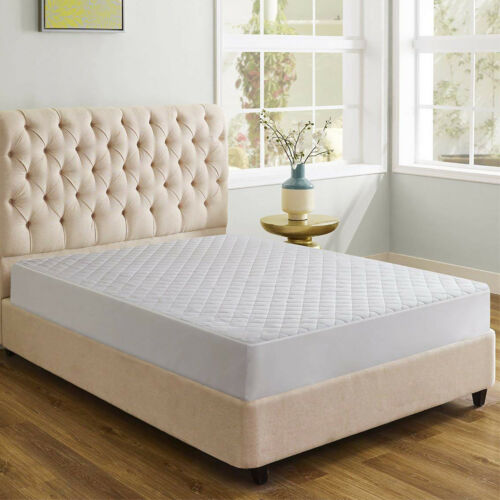 Microfiber Mattress Pad Quilted Waterproof Hypoallergenic Deep Pocket Fitted New