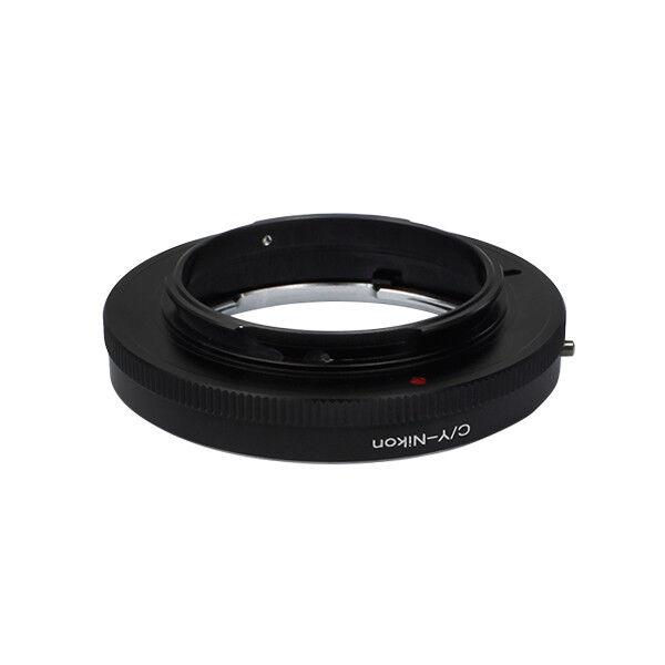 Brillant Contax/yashica Lentille Pour Nikon F Mount Adapter Ring D4 D5200 D800 Sans Verre
