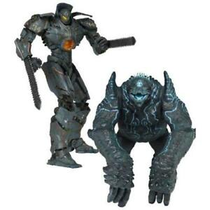 Pacific-Rim-7-inches-Action-Figure-Battle-Damage-Gypsy-Danger-vs-leather-back