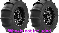 (2) Sti 28x13-14 Sand Drifter Rear Atv/utv/sxs Paddle Sand Tires
