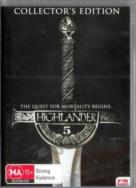 HIGHLANDER 5 - COLLECTOR'S EDITION -  NEW & SEALED REGION 4 DVD FREE LOCAL POST