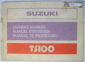 Suzuki-TS100-Jul-1977-99011-48670-Motorcycle-Owners-Handbook