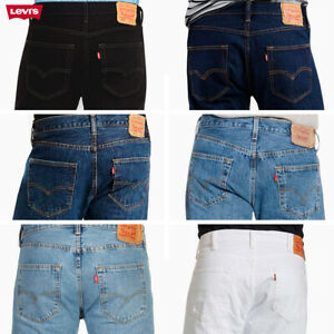 LEVIS Mens 501 Original Fit Denim Jeans coupe droite braguette à bouton 100% coton