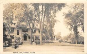 RPPC-BETHEL-INN-Bethel-Maine-1939-Vintage-Real-Photo-Postcard