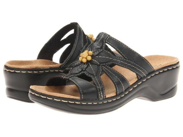 Clarks LEXI MYRTLE Womens Sand Leather 34220 Slide Comfort Sandals