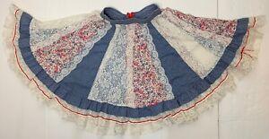 SQUARE-UP-FASHIONS-Square-Dance-Skirt-Size-P-Paneled-Lace-Floral-Vintage