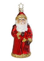 Inge Glas christmas Chime (santa) Ornament - Made In Germany (155)