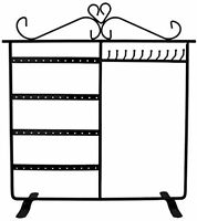 Combo Earring Holder Necklace Organizer Stand Jewelry Stand Display Rack