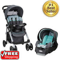 Baby Travel System Stroller Car Seat Boys Toddler Infant Carriage Set 3 In 1