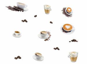 Premium-Kuechendeko-Kaffeetassen-14-Aufkleber-Raumdeko-Wandtattoo-Aufkleber-Neu