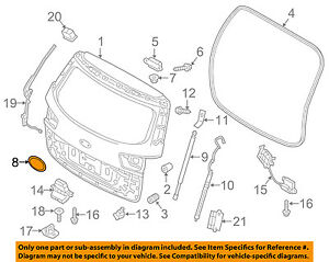 KIA-OEM-15-18-Sedona-Hardware-Lift-Gate-Hinge-Hole-Cover-841912G000