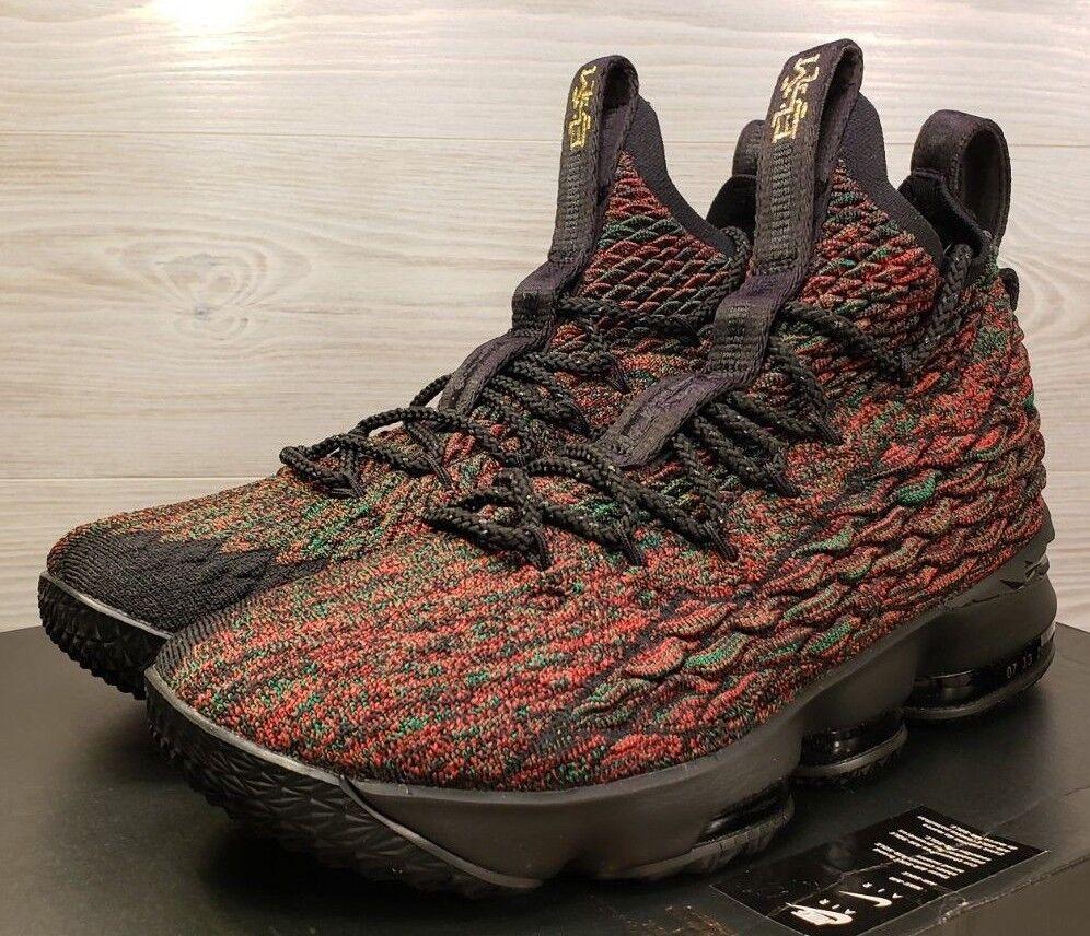 Nike lebron xv 15 lmtd bhm mehrfarbigen mehrfarbigen bhm schwarz history month 897650-900  9. 2f416b